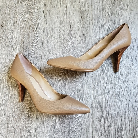 Michael Kors Shoes - Michael Kors Beige Leather Pumps